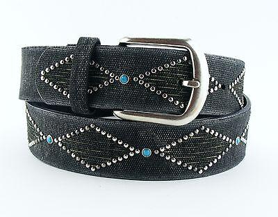 Designer Gürtel Damengürtel Schlangenleder Optik grau schwarz silber SI2