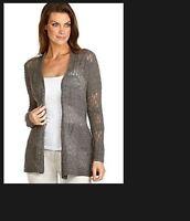Eileen Fisher Royal 100% Alpaca Stitch Cardigan Gray P L Xl Choose $278