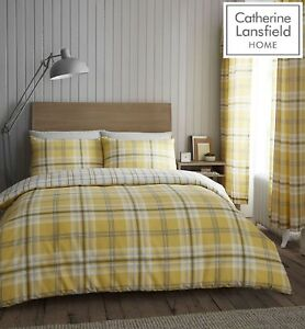 Catherine-Lansfield-Kelso-Easy-Care-Quilt-Duvet-Cover-Collection-Ochre-amp-Grey