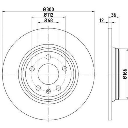 Original TEXTAR 92282803 Bremsscheiben 2 Stück hinten für AUDI