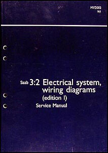 2002 Saab 9 5 Electrical Shop Manual Wiring Diagrams Original ...