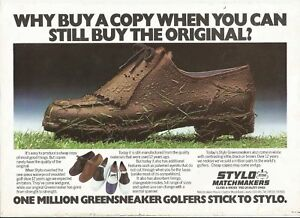 1978 STYLO MATCHMAKERS GOLF SHOES Vintage Print Ad # 33 7 | eBay