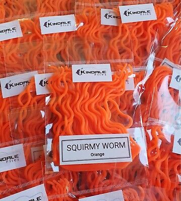 30 Olive Squirmy Worm Fly Tying Material Soft Rubber Stretchy