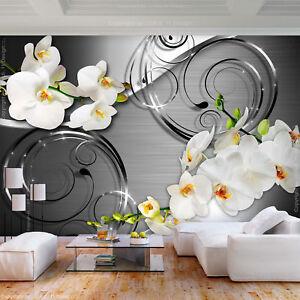 Details zu VLIES FOTOTAPETE Blumen Orchidee Abstrakt 3D TAPETE Wohnzimmer  WANDBILDER XXL
