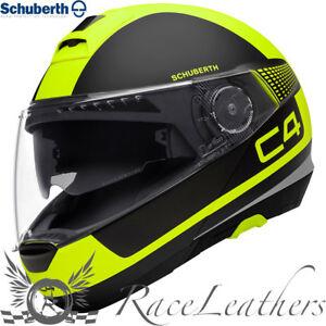 Schuberth C4 Legacy Jaune Visière Relevable Casque Moto Promo Soldes