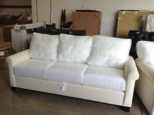 Details About Pottery Barn Cameron Roll Arm Sofa Couch Box Edge Cushion No Slipcover