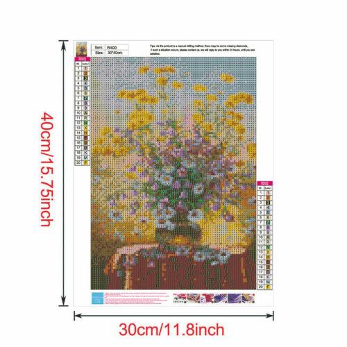 Flower Full Drill DIY 5D Diamond Painting Cross Stitch Kits Mosaic Decor Rose