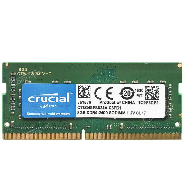 Crucial 8GB 16GB 32GB 1Rx8 PC4-2400T DDR4-2400MHz SODIMM 1.2V CL17 260Pin di memoria