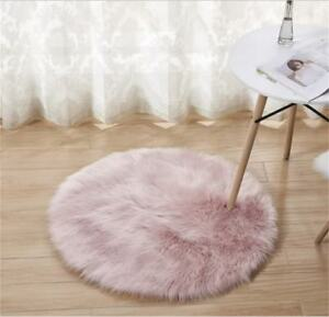 Image Is Loading Luxury Faux Fur Rug Carpet 3 039 Round