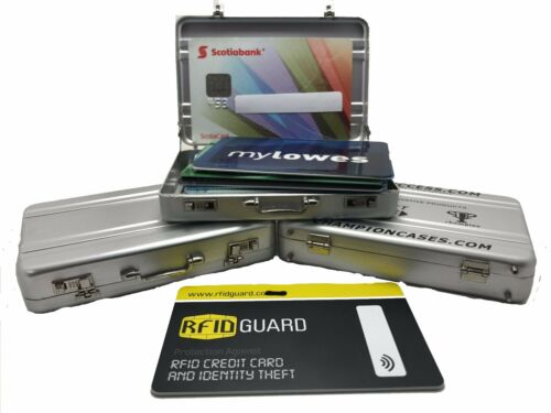 Aluminum RFID Blocking Credit Card Case Wallet