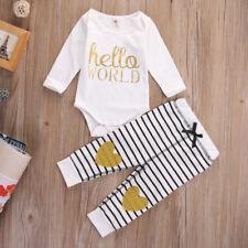 Baby Body Strampler Set 2 tlg. Neugeborene Gold Herz Mädchen Geschenk Geburt 62