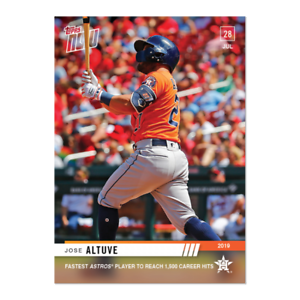 2019 TOPPS NOW #591 JOSE ALTUVE FASTEST ASTROS PLAYER TO REACH 1500 CAREER HITS