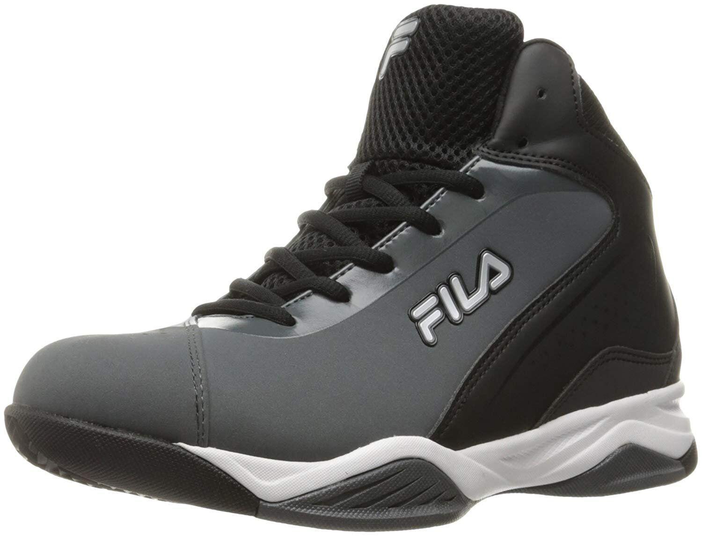 Fila Men's contingent Basketball shoes Castlerock Black Metallic Silver