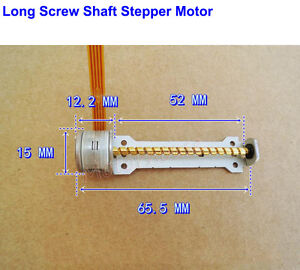 Mini Long Linear Screw Shaft 2-Phase 4-Wire Micro 10mm Stepping Stepper Motor