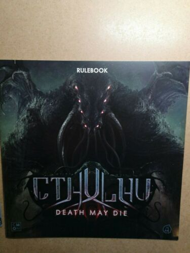 ENGLISH RULEBOOK //CTHULHU DEATH MAY DIE//CMON