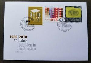 [SJ] Liechtenstein 50th Anniv Disable Insurance EFTA Police Thumb Print 2010 FDC
