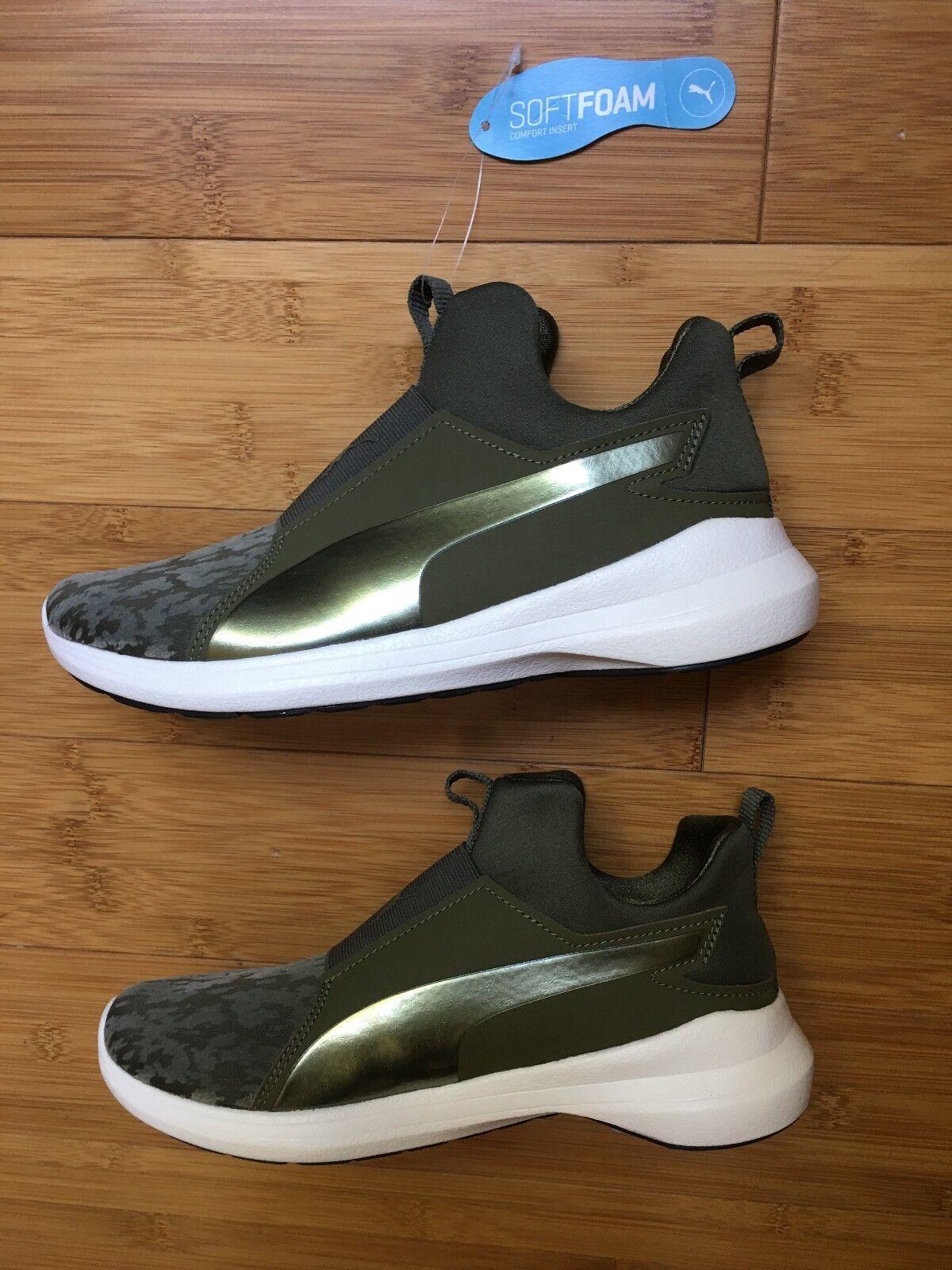 Authentic Damens PUMA Rebel Slip-On Sneaker GREEN   (U.S. Größe 6.5)  GREEN NEW 51770a