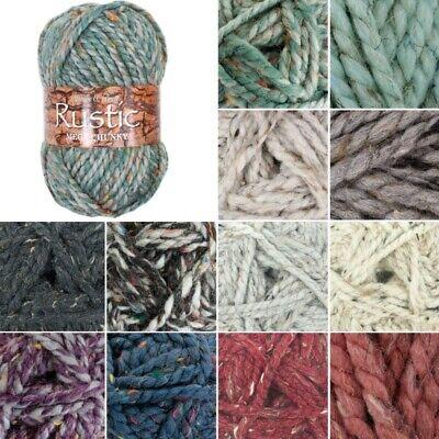 Wool 100g James C Brett RUSTIC MEGA CHUNKY Knitting Acrylic Yarn CS17