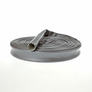 Heat-Fire-Flame-Thermo-Sleeve-Shield-For-Fuel-Oil-Hose-16mm-ID-SILVER-1M
