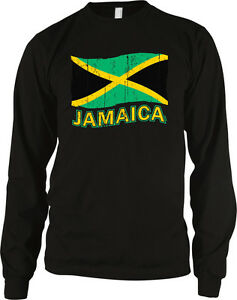 8671a77ce Image is loading Jamaica-Flag-Jamaican-Distressed -Pride-Colors-Team-National-