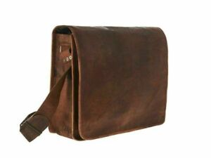 Vintage Leather Men's Handmade Brown Laptop Shoulder Satchel Messenger New Bag