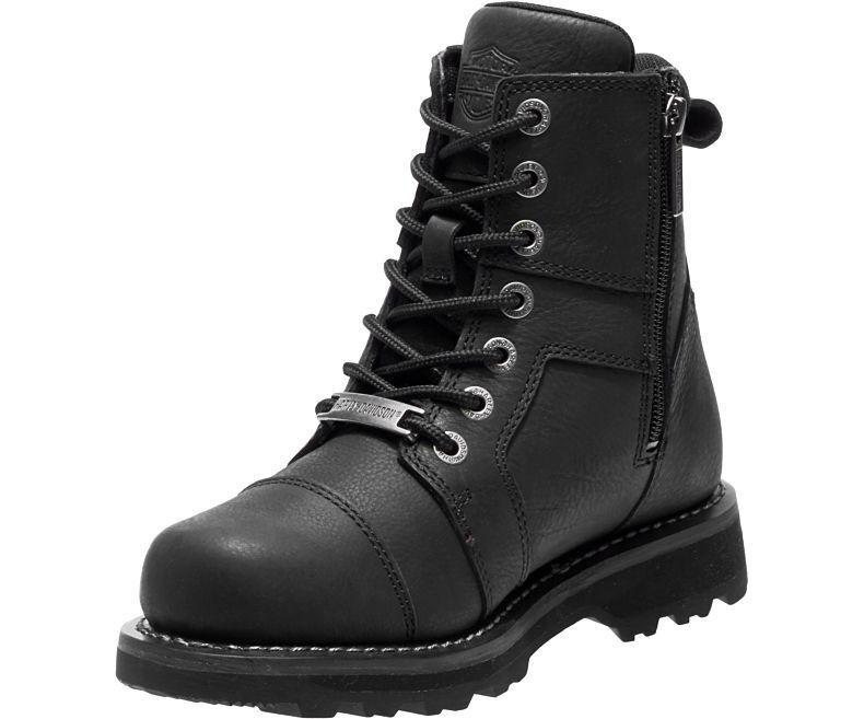 Harley Davidson Oakleigh Ladies Lightweight Black Leather Biker Boots Studded Lightweight Ladies fb78db