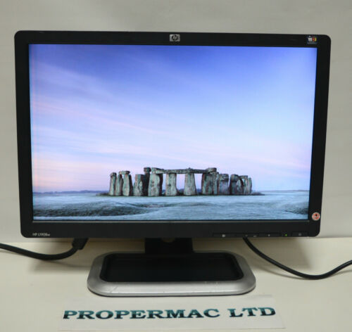 """1 of 1 - HP 1908w 19""""  Widescreen LCD Monitor 1440x900 GRADE B CABLES  48H DELIVERY"""