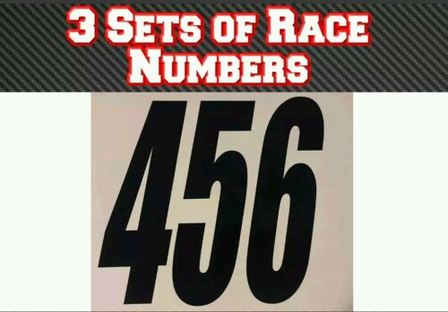 "3 Sets 4/"" 100mm  Custom Race Number Vinyl Stickers Decals MX Motocross Bike"