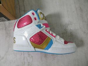 Details zu Osiris Skater Sneaker Schuhe NYC WeißPinkGold Gr. 36 US5.5 Ovp Neu Dead Stock
