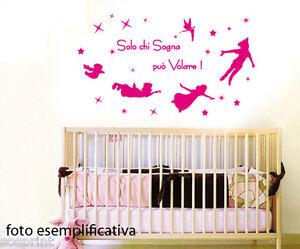Adesivi Murali Peter Pan.Dettagli Su Wall Stickers Decorazioni Adesivi Murali Peter Pan Solo Chi Sogna Puo Volare