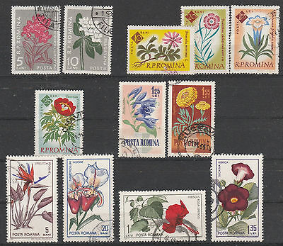 O Herzhaft V2750 Rumänien/ Blumen Minr 1647+48+2020+21+28+2022+2274+75+2442+44+48+49 A.s Motive Briefmarken