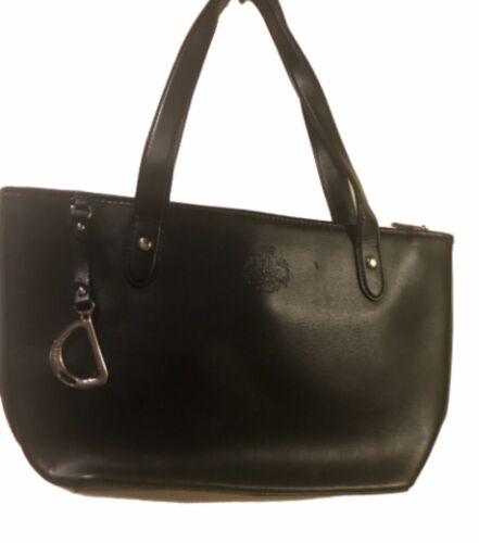 Ralph Lauren blk classic handbag - image 1