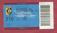 Orig.Ticket  Europa League 15/16  VITESSE ARNHEIM - SOUTHAMPTON FC  !!  SELTEN