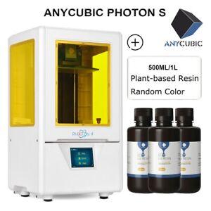 ANYCUBIC LCD/SLA Photon S Imprimante 3D Printer+UV Résine Plant-based Resin EU