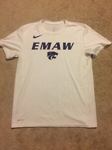Nike-Dri-Fit-Kansas-State-EMAW-Men-039-s-Large-Shirt-White