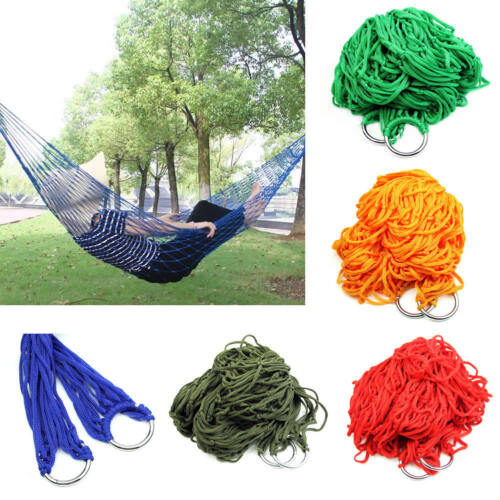 Tuch Hängematte Hängeliege Gartenliege Outdoor Camping Farbwahl Nylon Sommer