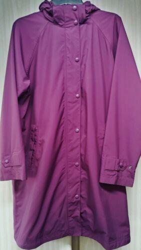 LL Bean Womens Hooded Long Parka Jacket Raincoat P