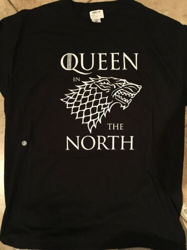 QUEEN OF THE NORTH BLACK UNISEX SIZE L T-SHIRT