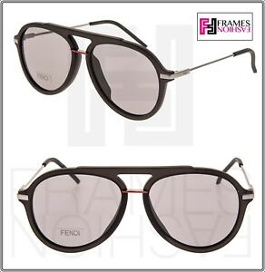 ee2f0ee2253 Image is loading FENDI-FANTASTIC-FFM0011S-Translucent-Grey-Red-Aviator- Sunglasses-