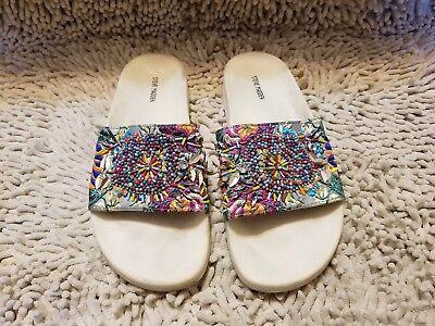Steve Madden Sparkly Slide Sandal White