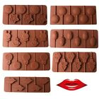 Food Grade Silicone Rabbit Lips Shape Chocolate Candy Lollipop Mold +Sticks