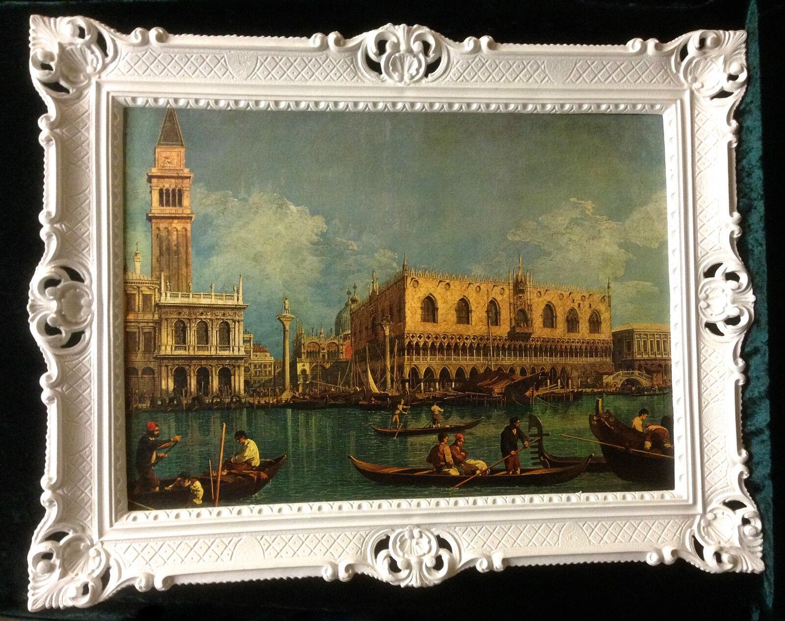 Venedig Bild GONDOL Gerahmte Gemälde 90x70 VENEDIG NOSTALGIE ...
