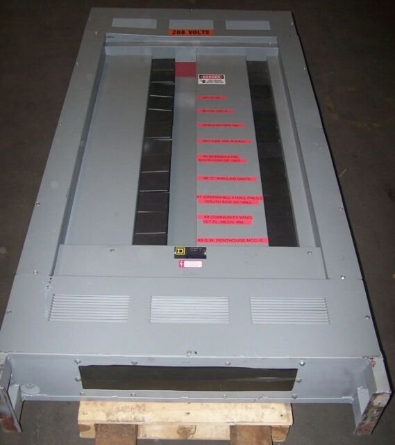 SQUARE D 225 AMP MAIN LUG PANELBOARD 208Y//120 VAC 3 PHASE 42 CIRCUIT