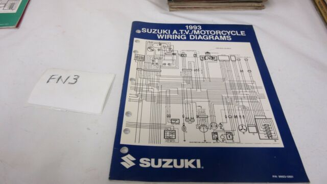 1993 Suzuki Atv  Motorcycle Models Wiring Diagrams Manual