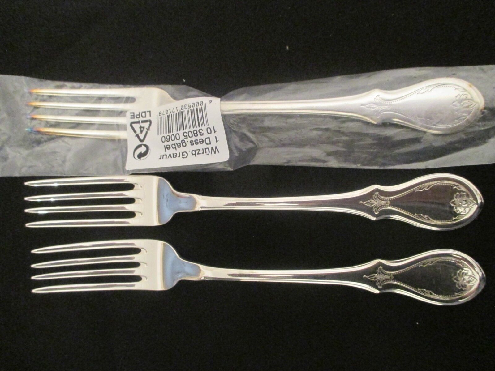 WMF Würzburger Gravur 90 90 90 Silber 3 Dessertgabel 18,3 cm Vorspeisegabel Gabel TOP   Online-verkauf  a7c2bb