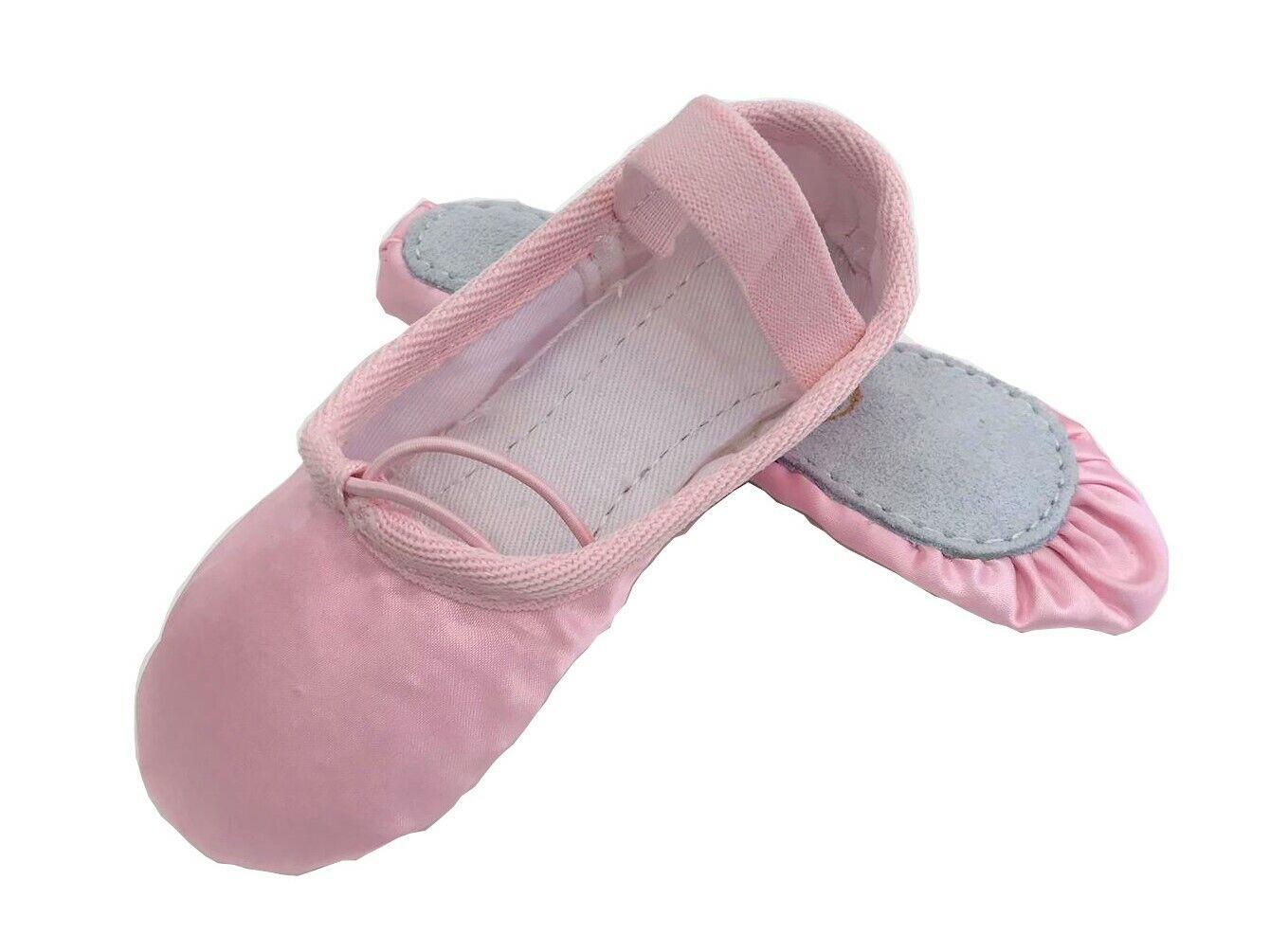 Satin Ballet Shoes Full Sole Pink Pre-sewn Elastics