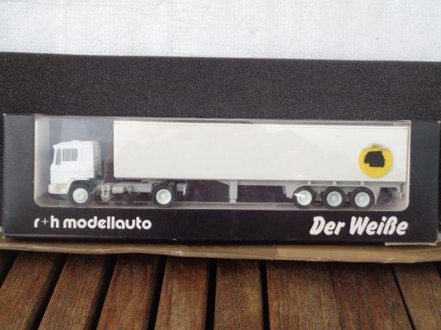 R+H MODELLAUTO 02009 MAN camion - REMORQUE Der blance emballage d'origine 1 87,