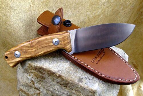 Messer LionSteel Olive M2 Hunter D2 Jagdmesser Gürtelmesser Outdoor Leder M2UL