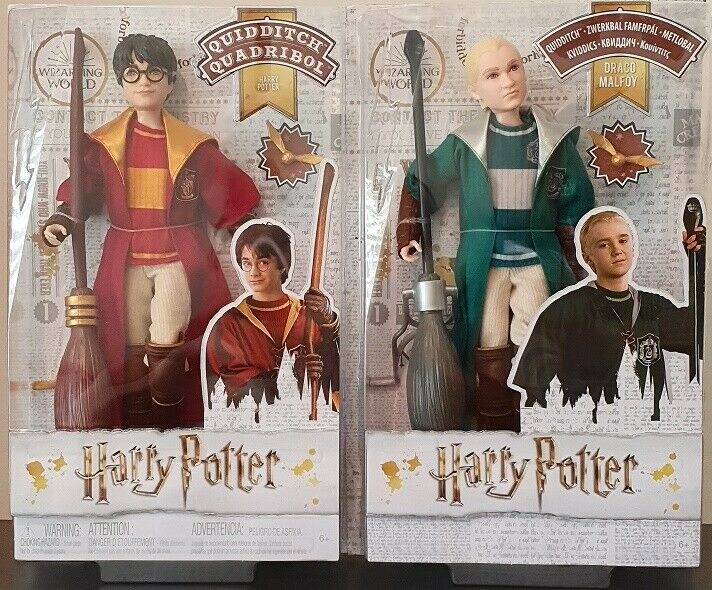 HARRY POTTER COLLECTOR'S - HARRY POTTER & DRACO MALFOY QUIDDITCH SET