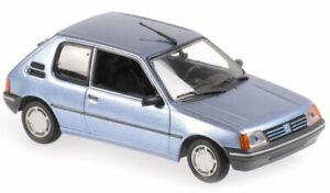 PEUGEOT 205 - 1990 - bluemetallic - Maxichamps 1:43